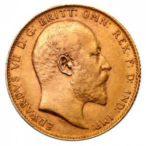 sovereign coins, gold coin, king edward vii 7